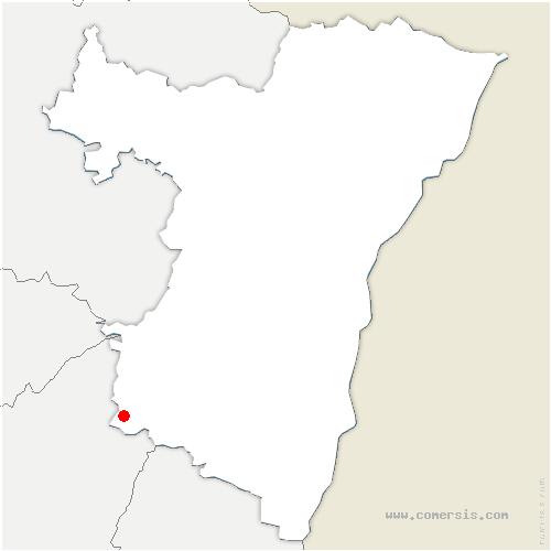 carte de localisation de Saales