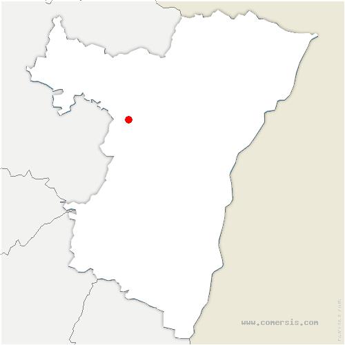 carte de localisation de Saint-Jean-Saverne