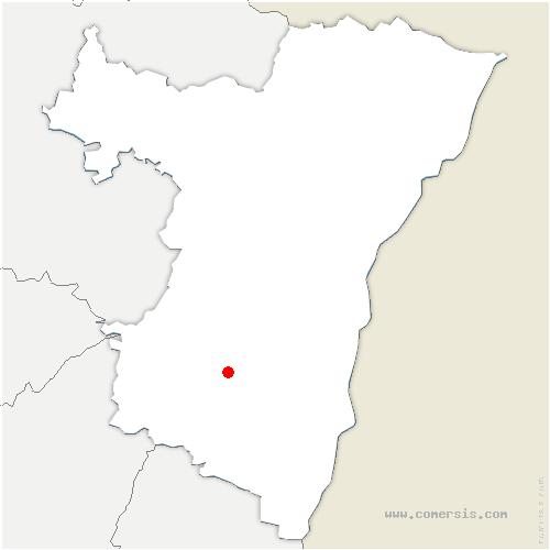 carte de localisation de Saint-Nabor