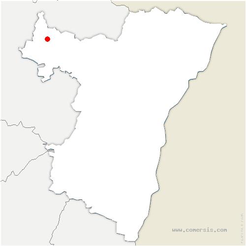 carte de localisation de Sarre-Union