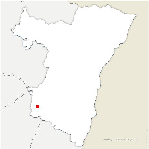 carte de localisation de Saulxures
