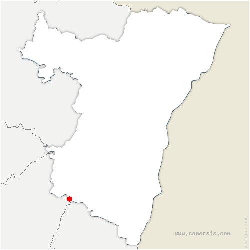 carte de localisation de Urbeis