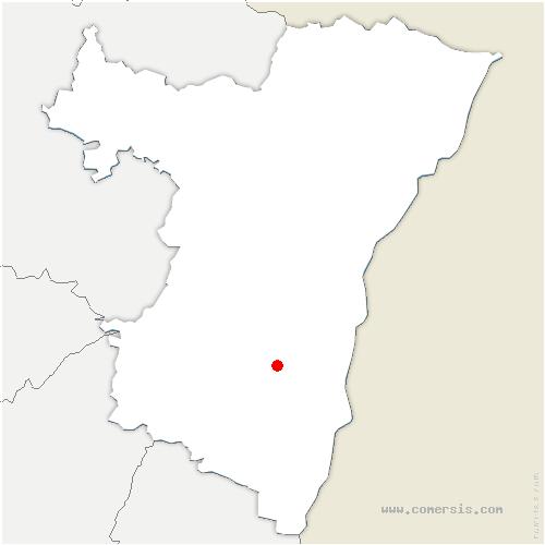 carte de localisation de Valff