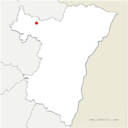 carte de localisation de Volksberg