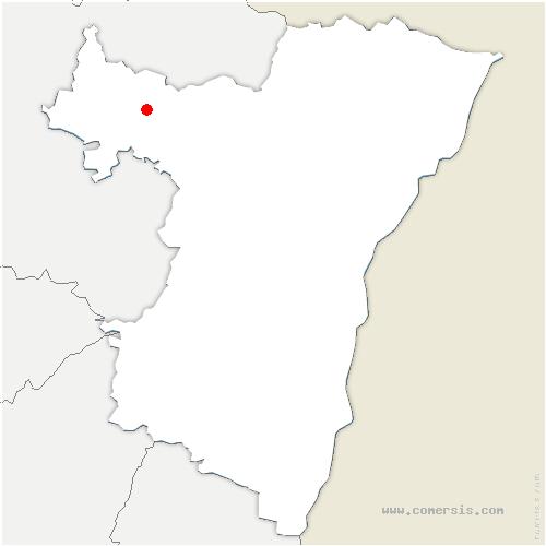 carte de localisation de Weislingen
