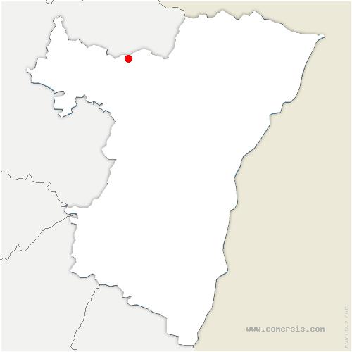 carte de localisation de Wingen-sur-Moder