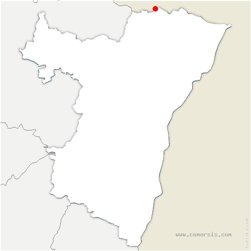 carte de localisation de Wingen