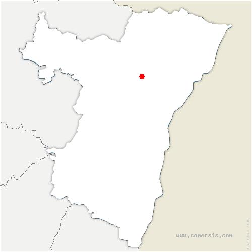 carte de localisation de Wittersheim