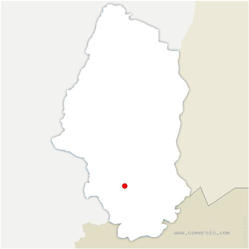 carte de localisation de Aspach