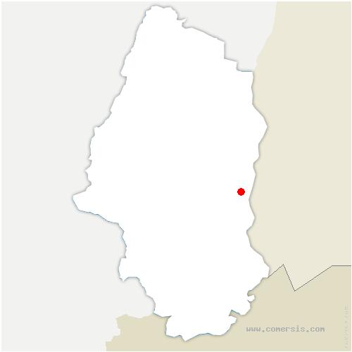 carte de localisation de Bantzenheim