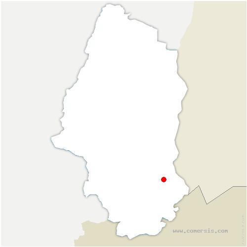 carte de localisation de Bartenheim