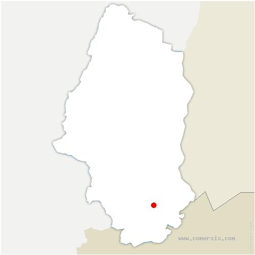 carte de localisation de Berentzwiller