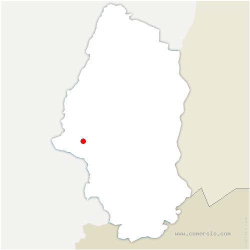 carte de localisation de Bourbach-le-Haut