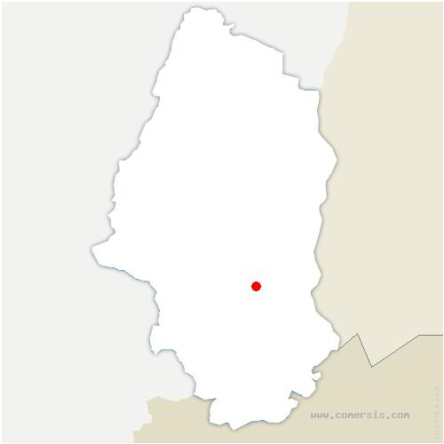 carte de localisation de Brunstatt-Didenheim