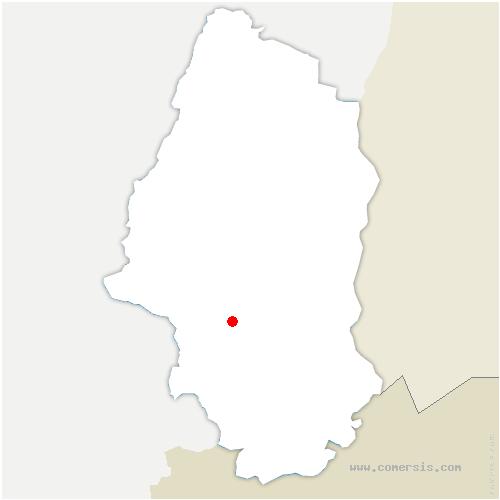 carte de localisation de Burnhaupt-le-Bas
