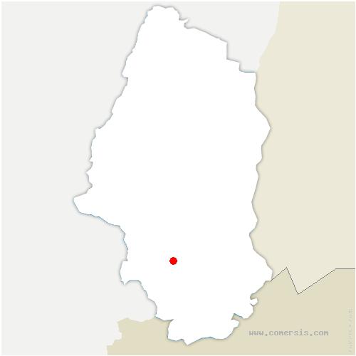 carte de localisation de Carspach