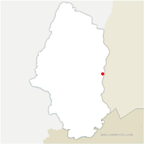 carte de localisation de Chalampé