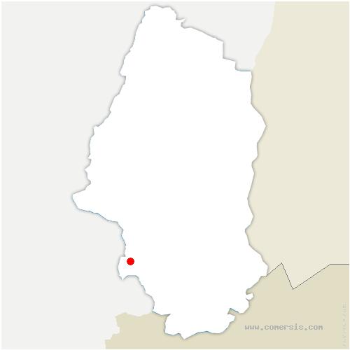 carte de localisation de Chavannes-sur-l'Étang