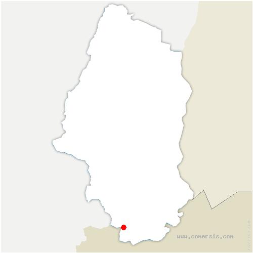 carte de localisation de Courtavon