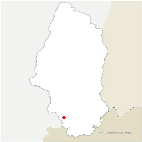 carte de localisation de Friesen