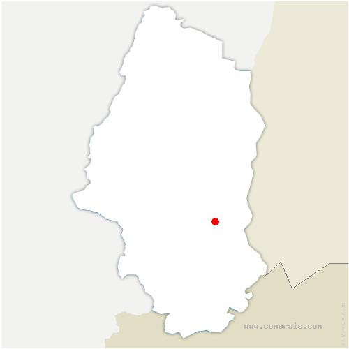 carte de localisation de Habsheim