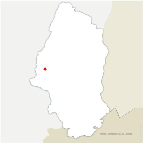 carte de localisation de Husseren-Wesserling