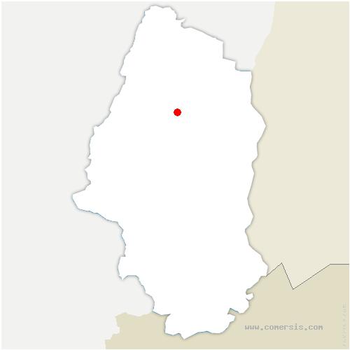 carte de localisation de Husseren-les-Châteaux