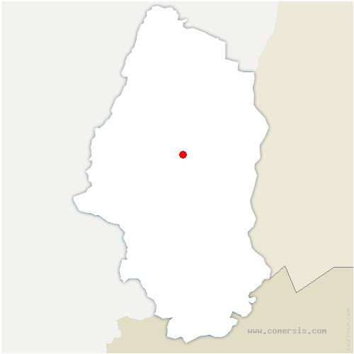 carte de localisation de Issenheim