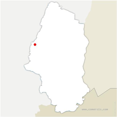 carte de localisation de Kruth