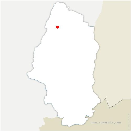 carte de localisation de Labaroche