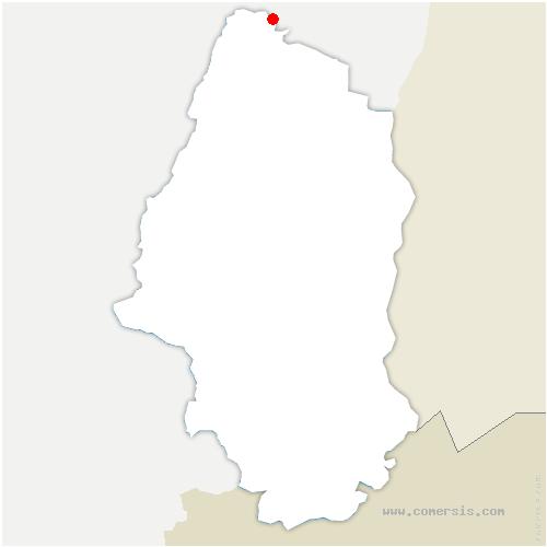 carte de localisation de Lièpvre