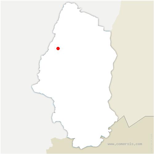 carte de localisation de Luttenbach-près-Munster
