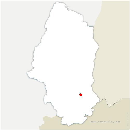 carte de localisation de Magstatt-le-Bas