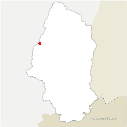 carte de localisation de Metzeral