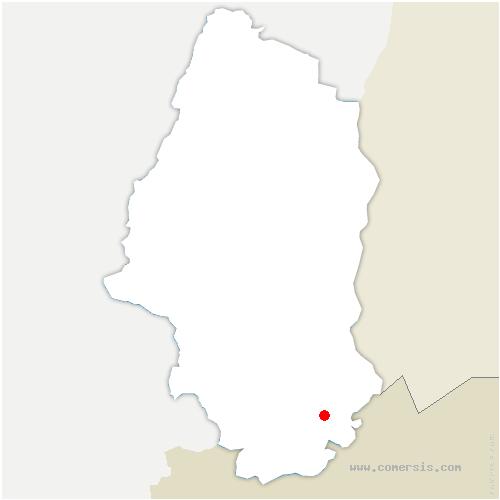 carte de localisation de Muespach-le-Haut