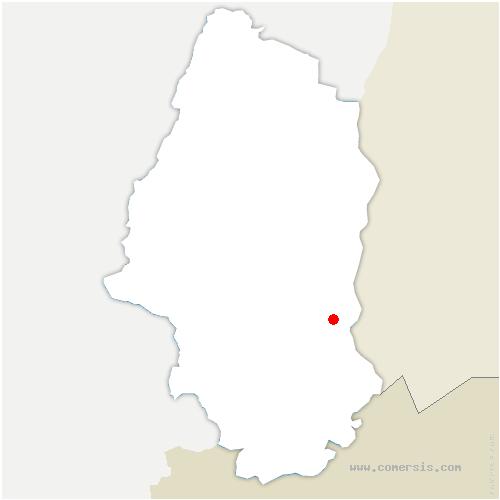 carte de localisation de Niffer