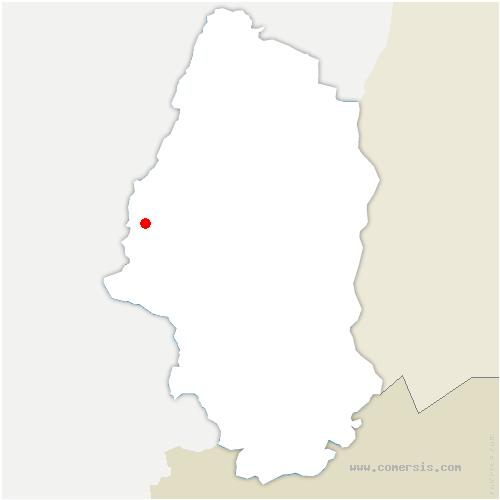 carte de localisation de Oderen