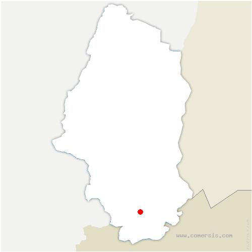carte de localisation de Riespach