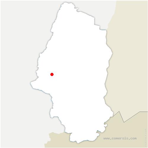 carte de localisation de Saint-Amarin