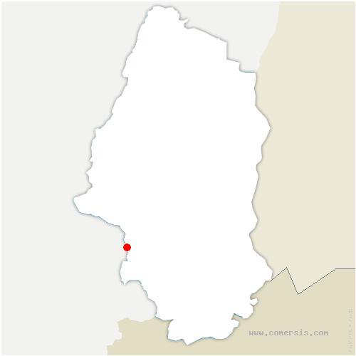 carte de localisation de Saint-Cosme
