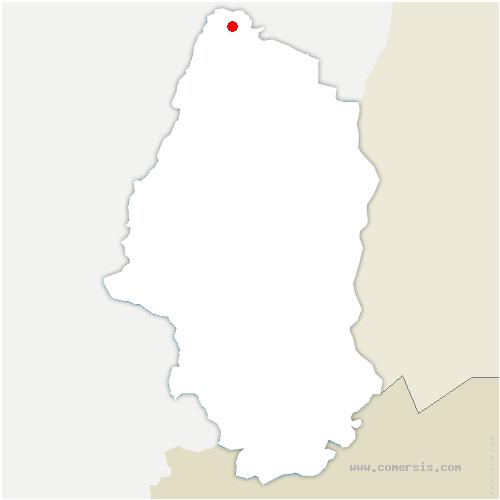 carte de localisation de Sainte-Croix-aux-Mines