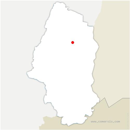 carte de localisation de Sainte-Croix-en-Plaine