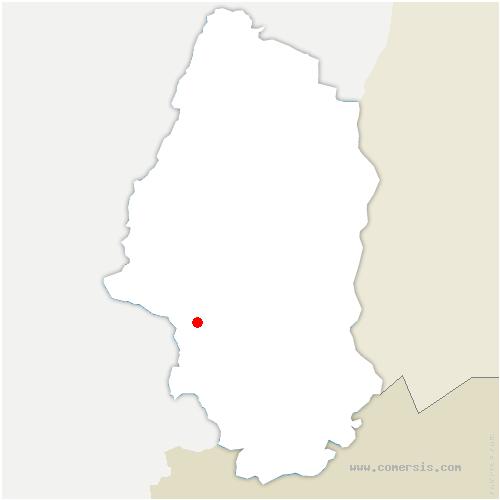 carte de localisation de Soppe-le-Bas