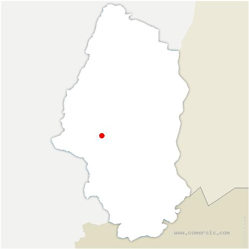 carte de localisation de Thann