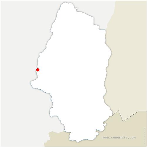 carte de localisation de Urbès
