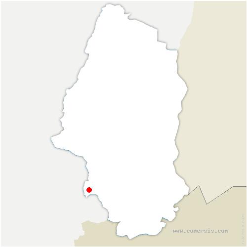carte de localisation de Valdieu-Lutran
