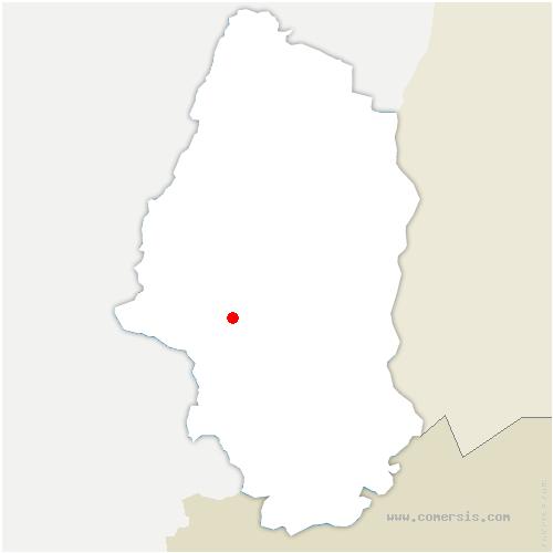 carte de localisation de Vieux-Thann