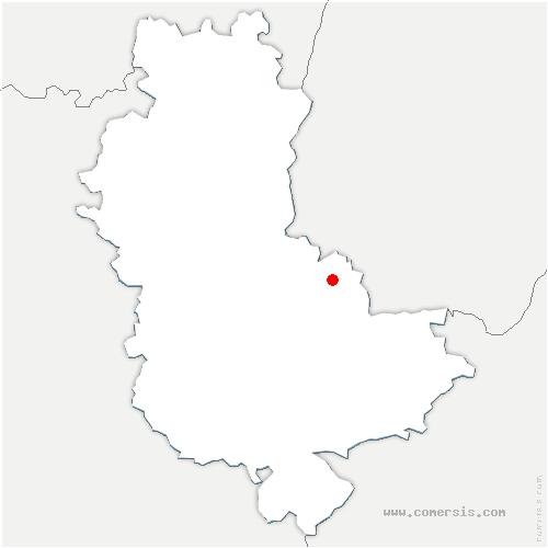 carte de localisation de Albigny-sur-Saône