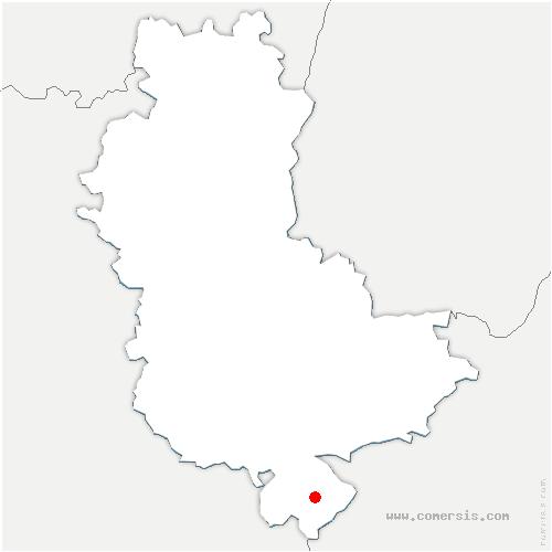 carte de localisation de Ampuis