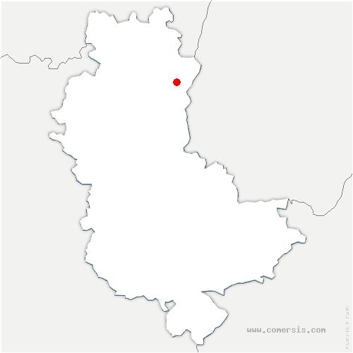 carte de localisation de Belleville-en-Beaujolais